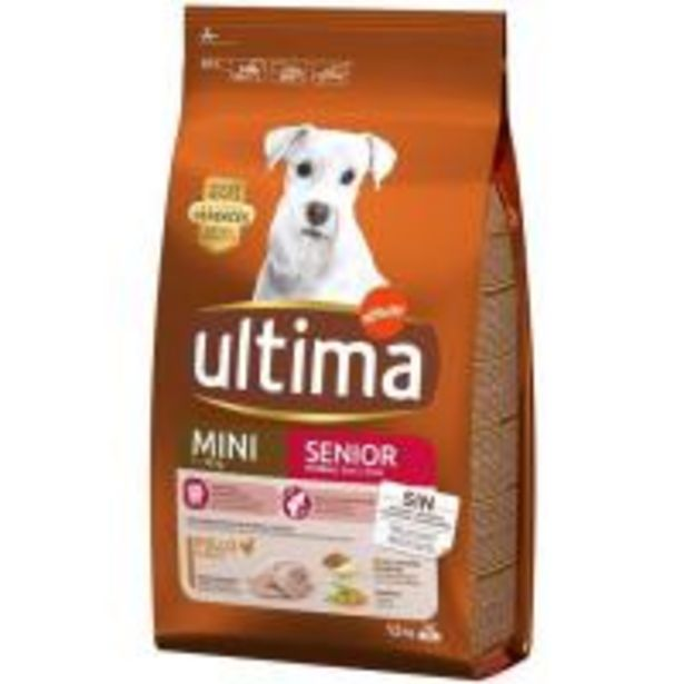 Oferta de Alimento para perro mini senior +7 años ULTIMA, saco 1,5 kg por 6,95€