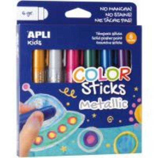 Oferta de Témpera sólida Metallic Kids Stick 6 colores APLI por 4,99€