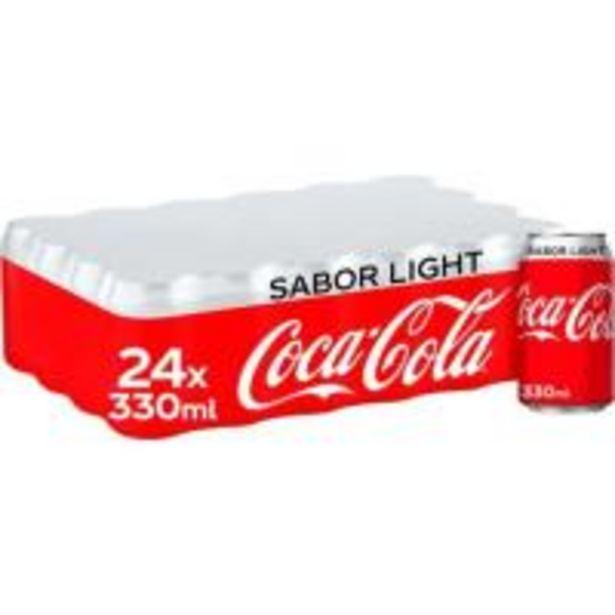 Oferta de Refresco de cola light COCA COLA, pack 24x33 cl por 15,36€
