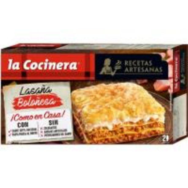 Oferta de Lasaña boloñesa LA COCINERA, caja 530 g por 4,09€