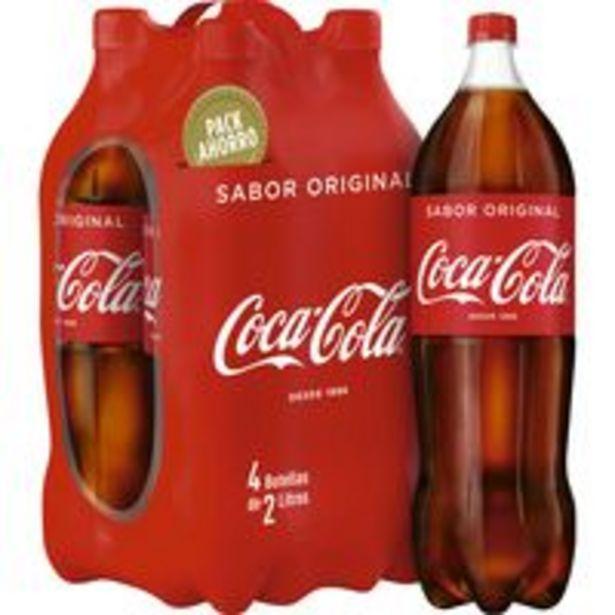 Oferta de Refresco de cola COCA COLA, pack 4x2 litros por 6,24€