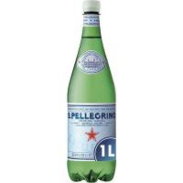 Oferta de Agua con gas SAN PELLEGRINO, botella 1 litro por 1€