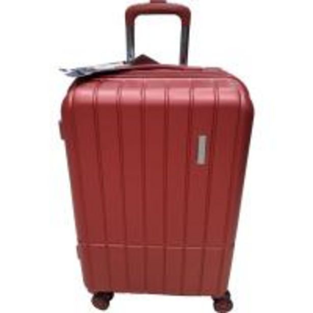 Oferta de Trolley cabina ABS rígido: 4ruedas, candado, extensible, rojo MATTEO FERRETTI, 1ud por 29,9€