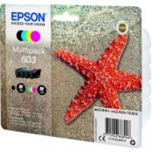 Oferta de Pack de cartuchos de tinta original, 4 colores 603 EPSON, 1 ud por 32,9€