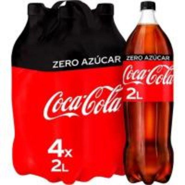 Oferta de Refresco de cola COCA COLA Zero, pack 4x2 litros por 6,24€