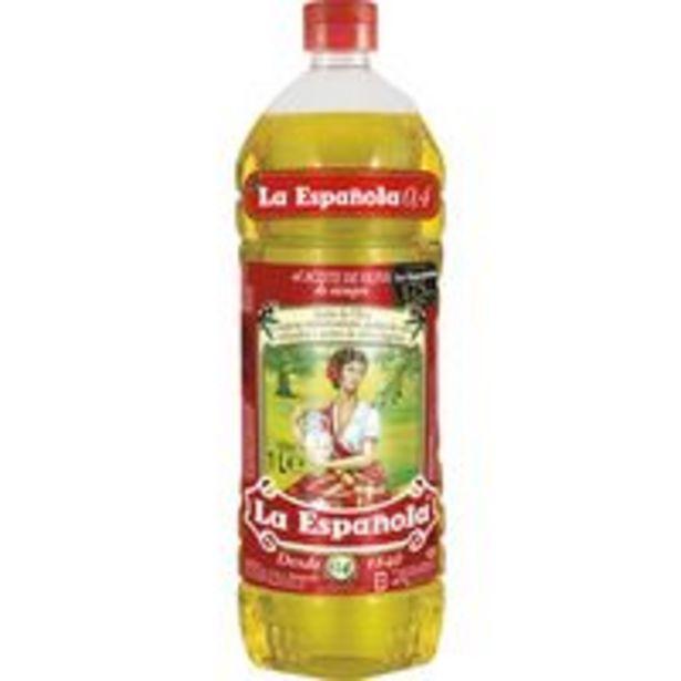 Oferta de Aceite de oliva 0,4º LA ESPAÑOLA, botella 1 litro por 3,49€