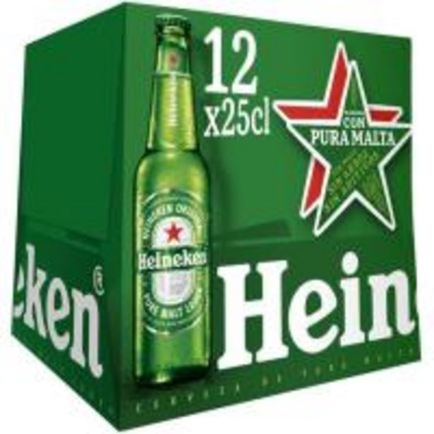 Oferta de Cerveza HEINEKEN, pack botellín 12x25 cl por 7,39€