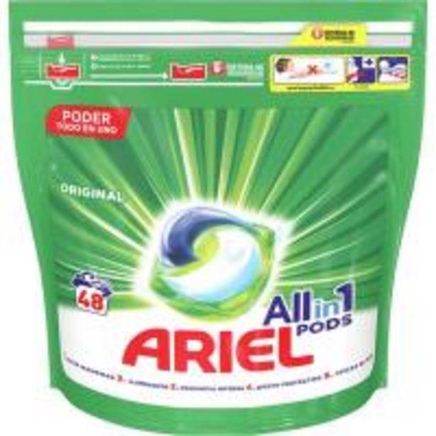 Oferta de Detergente en cápsulas ARIEL Original, bolsa 48 dosis por 16,99€