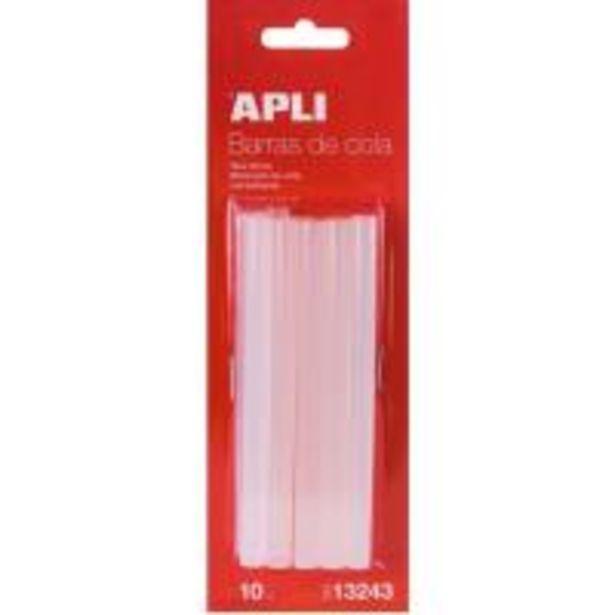 Oferta de Recambio barras de cola termofusible transparente APLI,  Ø 7,5mm x 10cm, 10 Barras por 1,49€