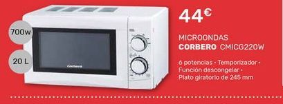 Oferta de Microondas Corberó por 44€