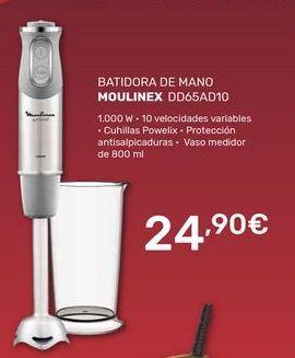 Oferta de Batidora de mano Moulinex por 24,9€
