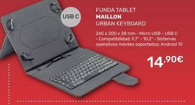 Oferta de Funda tablet Maillon por 14,9€