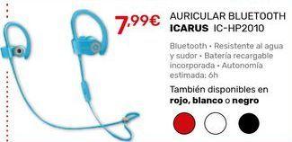 Oferta de Auriculares bluetooth icarus por 7,99€