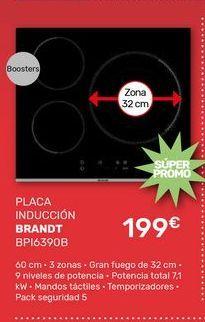 Oferta de Placa de inducción Brandt por 199€