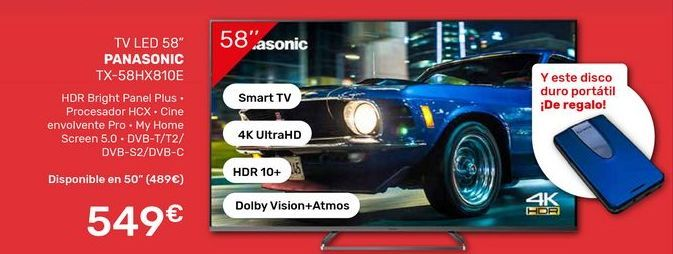 Oferta de Tv led Panasonic por 549€
