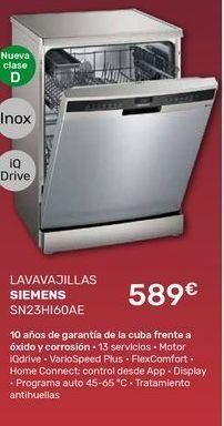 Oferta de Lavavajillas Siemens por 589€