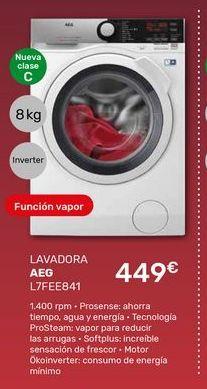 Oferta de Lavadoras AEG por 449€