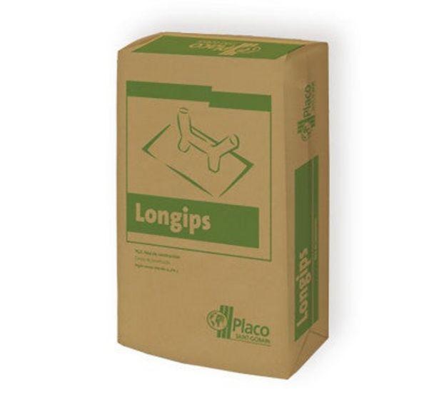 Oferta de YESO CONTROLADO PLACO LONGIPS 17 KG por 1,39€