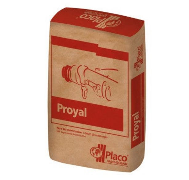 Oferta de YESO DE PROYECCIÓN PLACO PROYAL 20 KG por 2,4€