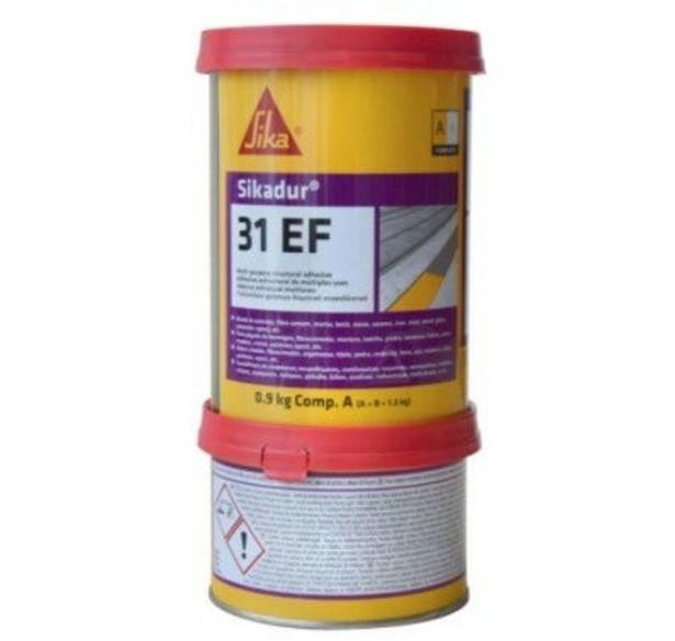 Oferta de ADHESIVO A BASE DE RESINAS EPOXI SIKADUR-31 EF 1,2 KG por 26,87€