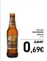 Oferta de Cerveza SAN MIGUEL  por 0,69€