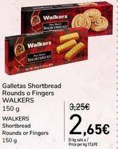 Oferta de Galletas Shortbread Rounds o Fingers WALKERS por 2,65€