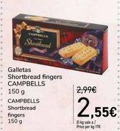 Oferta de Galletas Shortbread fingers CAMPBELLS por 2,55€