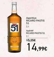 Oferta de Aperitivo RICARD PASTIS por 14,99€