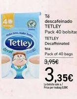 Oferta de Té descafeinado TETLEY por 3,35€