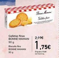 Oferta de Galletas finas BONNE MAMAN por 1,75€