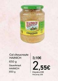 Oferta de Col choucroute HAINICH por 2,55€