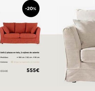 Oferta de Sofás 2 plazas por 555€