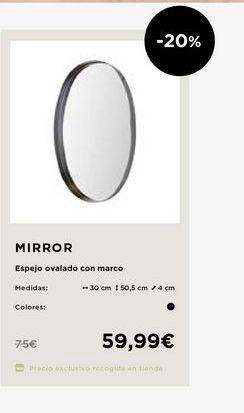 Oferta de Espejo por 59,99€