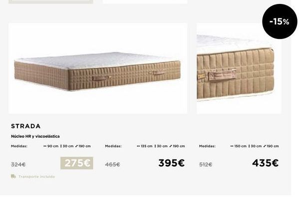 Oferta de Colchones 90x30x190 por 275€