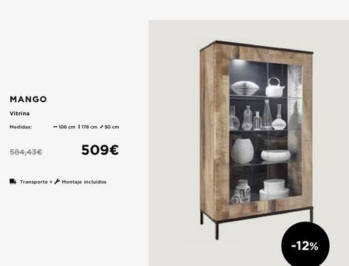 Oferta de Vitrina Mango por 509€