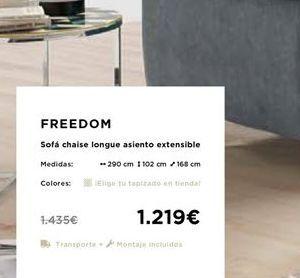 Oferta de Sofa Chaise longue asiento extensible  por 1219€