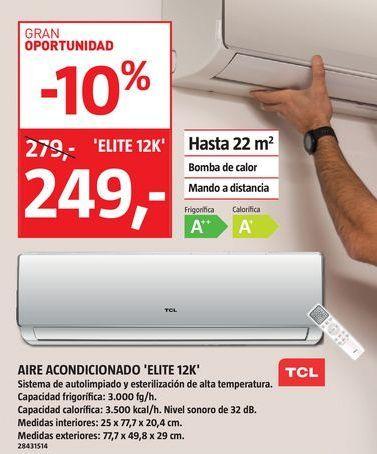 Oferta de Aire acondicionado ELITE 12K por 249€