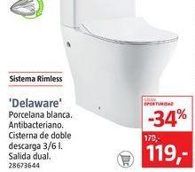 Oferta de Pack WC de pie sin borde Delaware por 119€