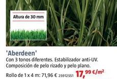 Oferta de Césped artificial Aberdeen por 17,99€