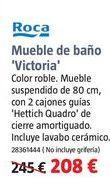 Oferta de Muebles de baño Roca por 208€