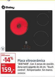 Oferta de Vitrocerámica Balay por 159€