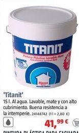 Oferta de Titan Pintura para paredes Titanit por 41,99€