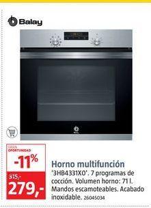 Oferta de Horno multifunción Balay por 279€