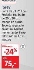 Oferta de Combinado de ducha Grey por 75€