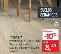 Oferta de Pavimento porcelánico Atelier por 8,49€