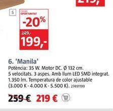 Oferta de Ventilador de techo MANILA por 219€