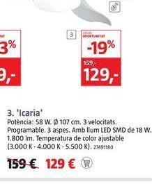 Oferta de Ventiladores Icaria  por 129€