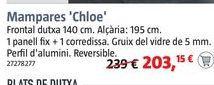 Oferta de Mampara de ducha frontal Chloe por 203,15€