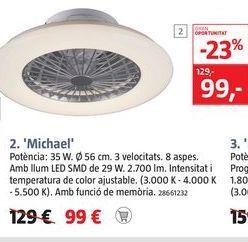 Oferta de Ventilador de techo MICHAEL  por 99€
