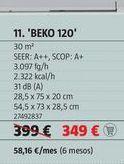 Oferta de Aire acondicionado Beko 120 por 349€